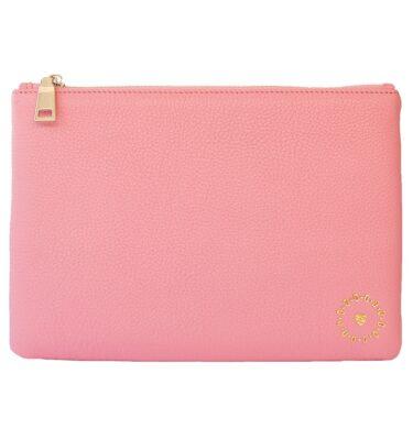 ILTN Signature Leather Clutch Rose Pink