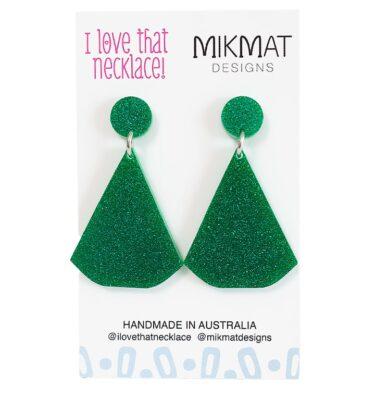 Fabulous Glitter Fans - Emerald Green